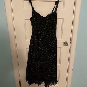 Urban Outfitters Black Polka Dot Midi Dress